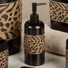 Zebra Print Bathroom Decor by Cheshire Animal Print Bath Accessories