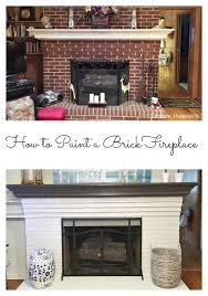 Paint Colors Living Room Red Brick Fireplace by How To Paint A Brick Fireplace