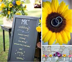 Sun Flower Themed Fall Wedding