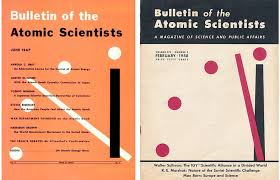 The Original Bulletin Of Atomic Scientists Cover And One From 1957 At Two Minutes To Midnight