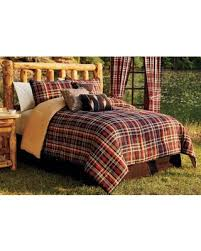 Plaid Comforter Set Queen With Regard To Find The Best Deals On Lumber Red QUEEN Decor