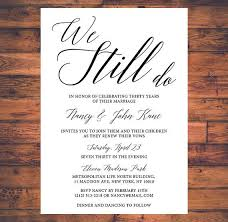 Vow Renewal Invitation We Still Do Simple Traditional Classic Invite Digital Printable