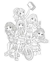 Fancy Lego Friends Coloring Page 18 With Additional Free Colouring Pages
