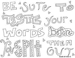 Awesome Quotes Coloring Pages 27 In Picture Page With