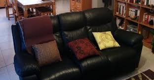 canapé cuir noir 3 places achetez canapé cuir noir occasion annonce vente à inzinzac