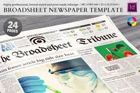 Newspaper Template 12 Pages Flyer Templates Creative Market