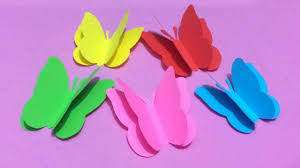 How To Make Butterfly With Color Paper