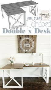 l shaped double x desk u2013 handmadehaven office tutorials