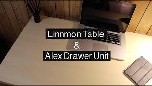 Linnmon Alex Desk Black by Linnmon Table I Alex Drawer Unit Desk Setup Youtube