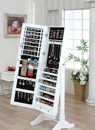 Mirrored Jewelry Box Armoire by Attractive Jewelry Box Stand Up Mirror Jewelry Armoire Ideas