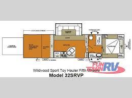 Wildwood Fifth Wheel Floor Plans Colors New 2013 Forest River Rv Wildwood Srv 32srvp Toy Hauler Fifth