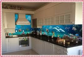Printed Glass Kitchen Splashback Design Creative