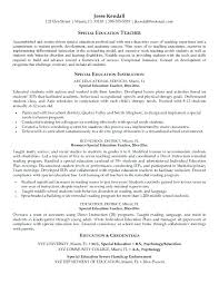 Special Education Aide Resume Free Download Sample Teacher Examples Best Of