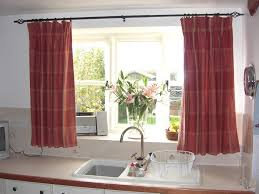 Kitchen Curtain Ideas For Large Windows by White Gloss Wood Countertops Curtain Ideas For Kitchen Grey Metal