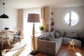 aménagement salon salle à manger canapé d angle gris
