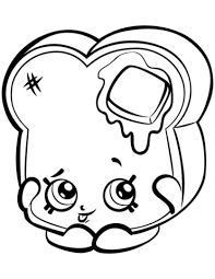 Click To See Printable Version Of Toastie Bread Shopkin Coloring Page