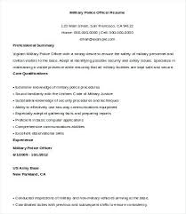 Police Officer Resume Template Military Sample Law Enforcement