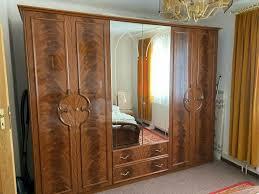 schlafzimmer komplett 5 teilig wurzelholzdesign top qualität