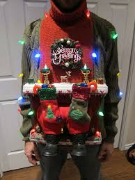 ugly christmas sweater diy stuck in the chimney 2012 ugliest