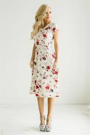 red pink floral modest dress by mikarose cute modest church
