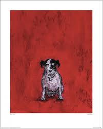 kunstdruck hund bei europosters