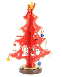 Get Quotations SHZONS Mini Wooden Tabletop Christmas Xmas Tree With Miniature Ornaments