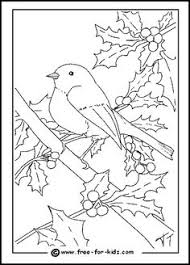 Christmas Tree With Birds On It Coloring Pages