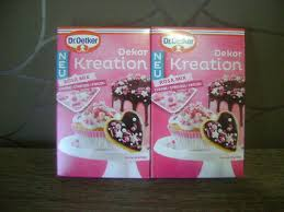 2x dr oetker dekor kreation rosa mix dekoration kuchen