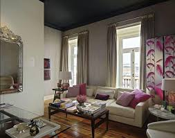 living rooms gray curtains gray drapes fuchsia pillows