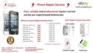 Apple iPhone Broken Screen LCD Glass Replacement Repair Service For IPhone 5 6 s