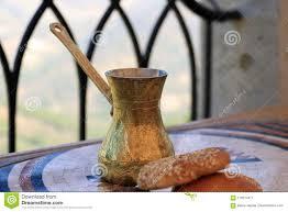 Download Lebanese Coffee Pot Sweets Stock Image