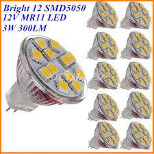 10x dc 12v mr11 led light bulb mini cup gu4 l smd spotlight