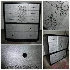 Reineke Paint And Decorating by Girly Dresser Black Glitter Bling Dresser Painted Furniture