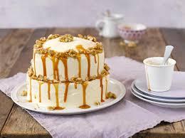 einfache apfel walnuss torte mit karamell