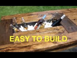 Build Outside Wooden Table by How To Build A Farmhouse Table With Built In Coolers Complete
