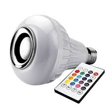 Light Bulb RGB LED Bluetooth Speaker – Genius Products