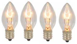 pack of 4 transparent clear c7 twinkle replacement bulbs