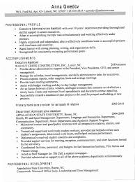 Executive Assistant Resume Samples 2016 ENC3 For