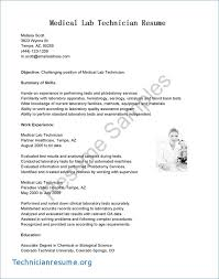 Lab Assistant Resume Objective Technician Sample