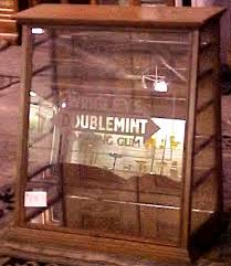 Oak Doublemint Gum Store Display Case BRASS LANTERN ANTIQUES