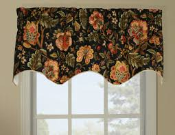 Jacobean Style Floral Curtains by Duchess Imperial Dress Insert Window Valance Floral