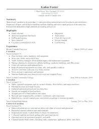 Janitorial Resume Sample Worker Janitor Job