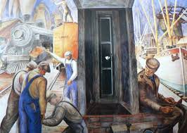 Coit Tower Murals Images by 106 Best Wpa Art U0026 Architecture Images On Pinterest Art Art