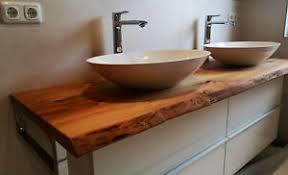 waschtischplatte rüster ulme massivholz waschtisch baumkante