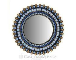 Blue Mosaic Bathroom Mirror by Blue Mosaic Mirror Etsy