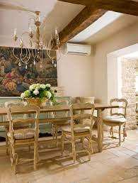 The Dining Room Showcases An Antique Cartoon A Design Template For French Tapestry Chandelier Was Crafted By Friends In Provence Using Old Italian