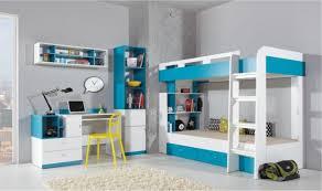 chambre avec lit superposé lit enfant superpose design avec tiroirs de rangements jolly