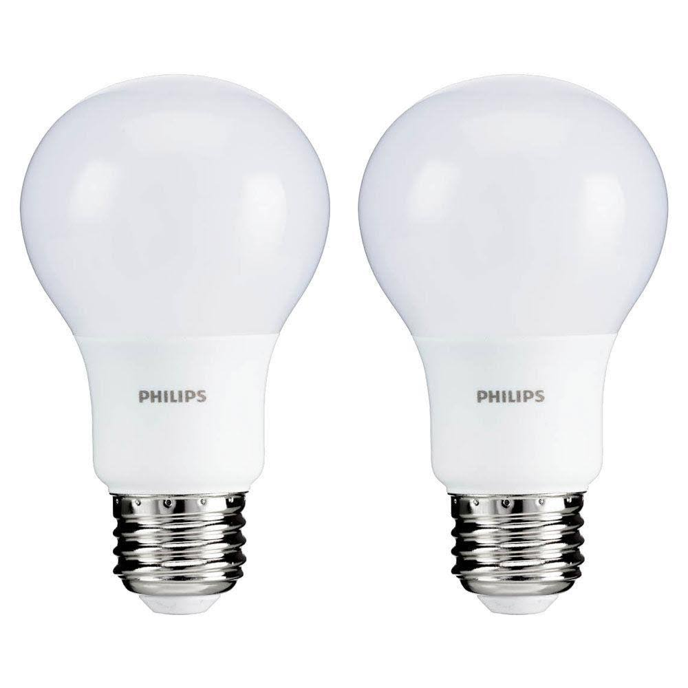 Philips A19 Medium LED Light Bulb - Soft White, 40W, 2ct