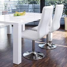 weiße stühle drehbar basel 4er set