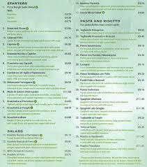 Olive Garden Menu Menu for Olive Garden Southfields London